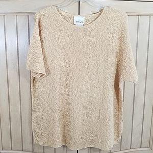 Worthington Knit Top, sz XL, maze yellow